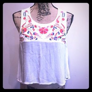 O'Neill embroidered crop top